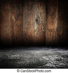 vendange, abandonnés, salle