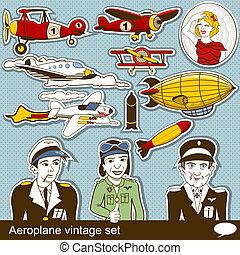 vendange, aeropalane, ensemble