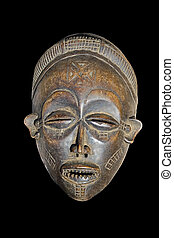 vendange, africaine, masque