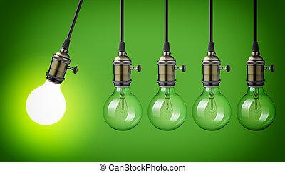 vendange, ampoules, lumière