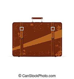 vendange, ancien, illustration, valise