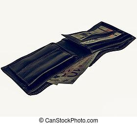 vendange, argent, portefeuille