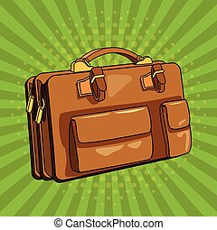 vendange, art, pop, valise