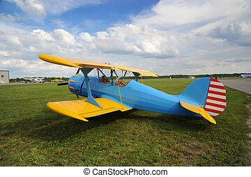 vendange, avion, sur, les, airshow, (1)