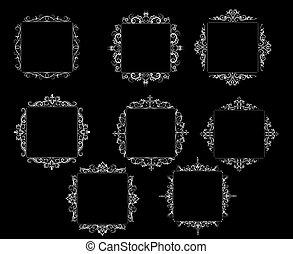 vendange, baroque, cadre