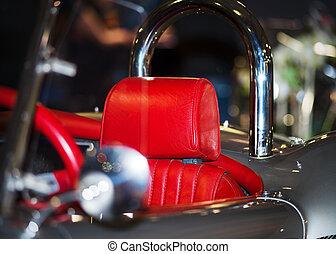 vendange, beauté, détails, conception, voiture luxe, vitesse, retro
