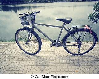 vendange, bicycle.