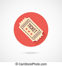 vendange, billet, vecteur, icône