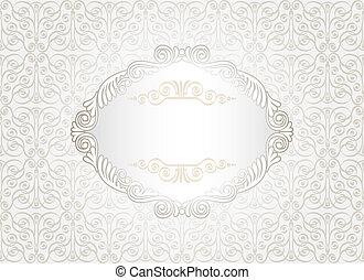 vendange, blanc, cadre