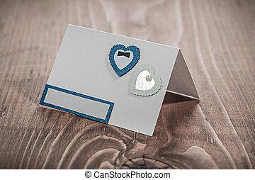 vendange, bois, carte, invitation