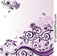 vendange, cadre, lilas