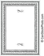 vendange, cadre, vecteur, décoratif
