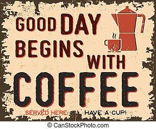 vendange, café, affiche