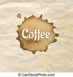 vendange, café, papier