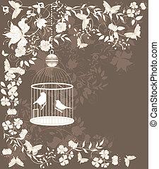 vendange, cage