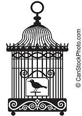 vendange, cage d'oiseaux
