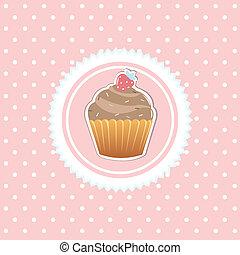 vendange, carte, petit gâteau