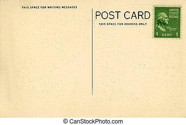 vendange, carte postale