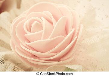 vendange, centre, de, rose.