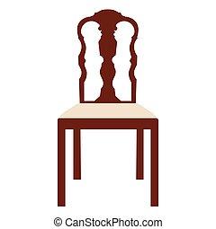 vendange, chaise, vecteur