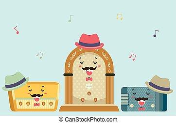 vendange, chant, radios, mascotte