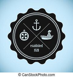 vendange, compagnie, emblème, expédition