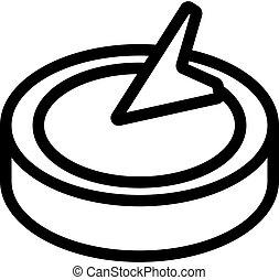 vendange, compas, contour, icône, vecteur, illustration
