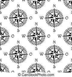 vendange, compas, seamless, modèle