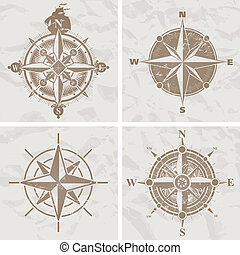 vendange, compas s'est élevé