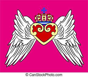 vendange, couronnez emblème