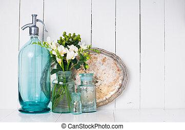 vendange, décor, maison