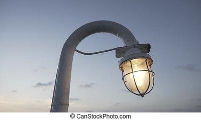 vendange, décoration, antiquité, lampe, fond, coucher soleil, électricité, décoratif, bateau, retro