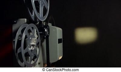vendange, dépistage, projecteur, pellicule, films