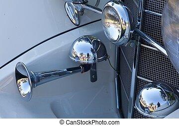 vendange, détails, voiture