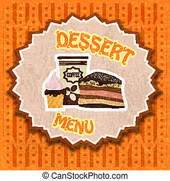 vendange, dessert, menu