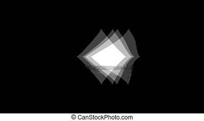 vendange, diamant, icône, signal, carte, complet, animation., mauvais, twitched