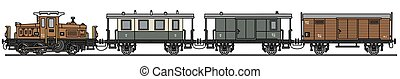 vendange, diesel, train