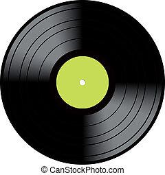 vendange, disque, vinyle, lp, enregistrement