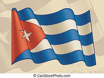 vendange, drapeau cubain