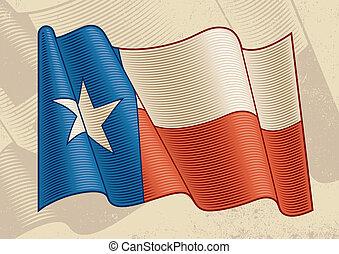 vendange, drapeau, texas