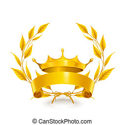 vendange, emblème, or