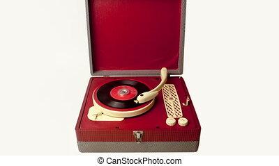 vendange, enregistrement, portable, joueur