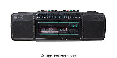 vendange, enregistreur, radio, cassette