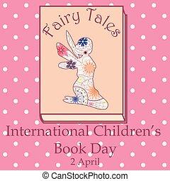vendange, fée, livre, childrens, jour