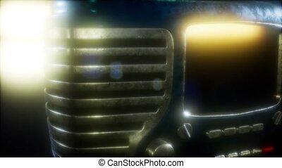 vendange, façonné, retro, vieux, radio