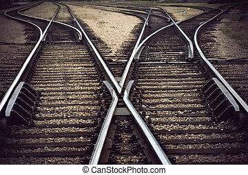 vendange, ferroviaire, jonction