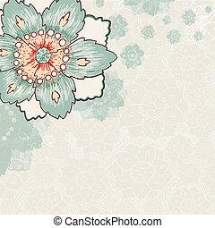 vendange, fleur, fond