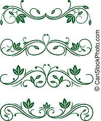 vendange, floral, décorations