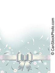 vendange, floral, fond, à, arc