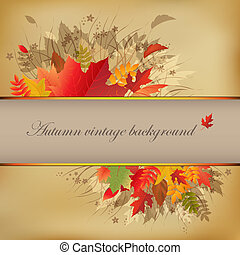 vendange, fond, automne, résumé